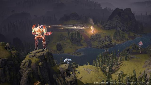 "BattleTech is a turn-based strategy video game. Players assume the role of a mercenary commander leading a ""mech lance"", or group of four giant humanoid-shaped combat vehicles. The developers state that the game will have the spirit of the board game but will not use the board game's rules. The player selects each mech's chassis, the weapons and armor mounted on that chassis, as well as smaller details such as actuators and gyros that influence a mech's turning radius. In addition to choosing hardware, the player can also specialize the mech's pilots (called ""mechwarriors"") by selecting talents from a skill tree. The world of BattleTech is dominated by powerful noble houses locked in a devastating war, and the player selects one or more houses to serve. (from Wikipedia)"