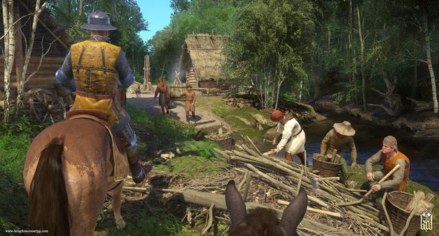 Kingdom Come: Deliverance is an action role-playing game set in an open world environment and played from a first-person perspective which utilizes a classless RPG system, allowing the player to customize their skills to take on roles such as a warrior, bard, thief or their hybrids. Abilities and stats grow depending on what the player does and says through branched dialogue trees. During conversations, the time a player takes to make a decision is limited and will have an effect on their relationships with others. Reputation is based on player choices and therefore can bring consequences.