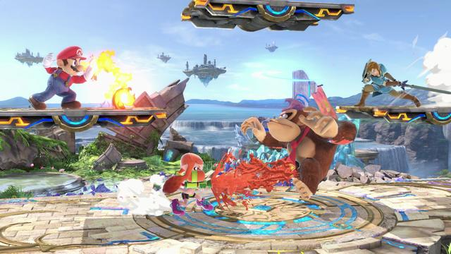 The game follows the series' traditional style of gameplay: controlling one of various characters, players must use differing attacks to weaken their opponents and knock them out of an arena. It features a wide variety of game modes, including a campaign for a single-player and multiplayer versus modes. Ultimate includes every playable character from previous Super Smash Bros. games—ranging from Nintendo's mascots to characters from third-party franchises—and several newcomers. (from Wikipedia)