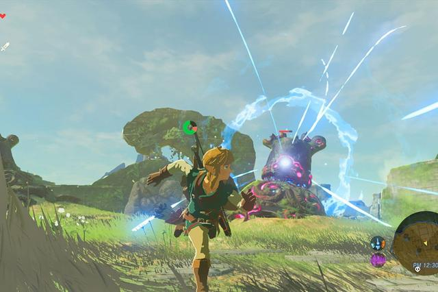 "Breath of the Wild is an action-adventure game set in an open-world environment where players are tasked with exploring the kingdom of Hyrule while controlling Link. In terms of structure, Breath of the Wild encourages nonlinear gameplay, which is illustrated by the game's lack of defined entrances or exits to areas, scant instruction given to the player, and encouragement to explore freely. Breath of the Wild introduces a consistent physics engine to the Zelda series, letting players approach problems in different ways rather than trying to find a single solution. The game also integrates a ""chemistry engine"" that defines the physical properties of most objects and governs how they interact with the player and one another. For example, players may take advantage of the game's dynamic weather by throwing metal objects at enemies during thunderstorms to attract a lightning strike. However, the level of realism offered in the ""chemistry engine"" also means that players will equally attract an unavoidable fatal lightning strike if wearing any metal during thunderstorms. These design approaches result in a generally unstructured and interactive world that rewards experimentation and allows for nonlinear completion of the story. (from Wikipedia)"